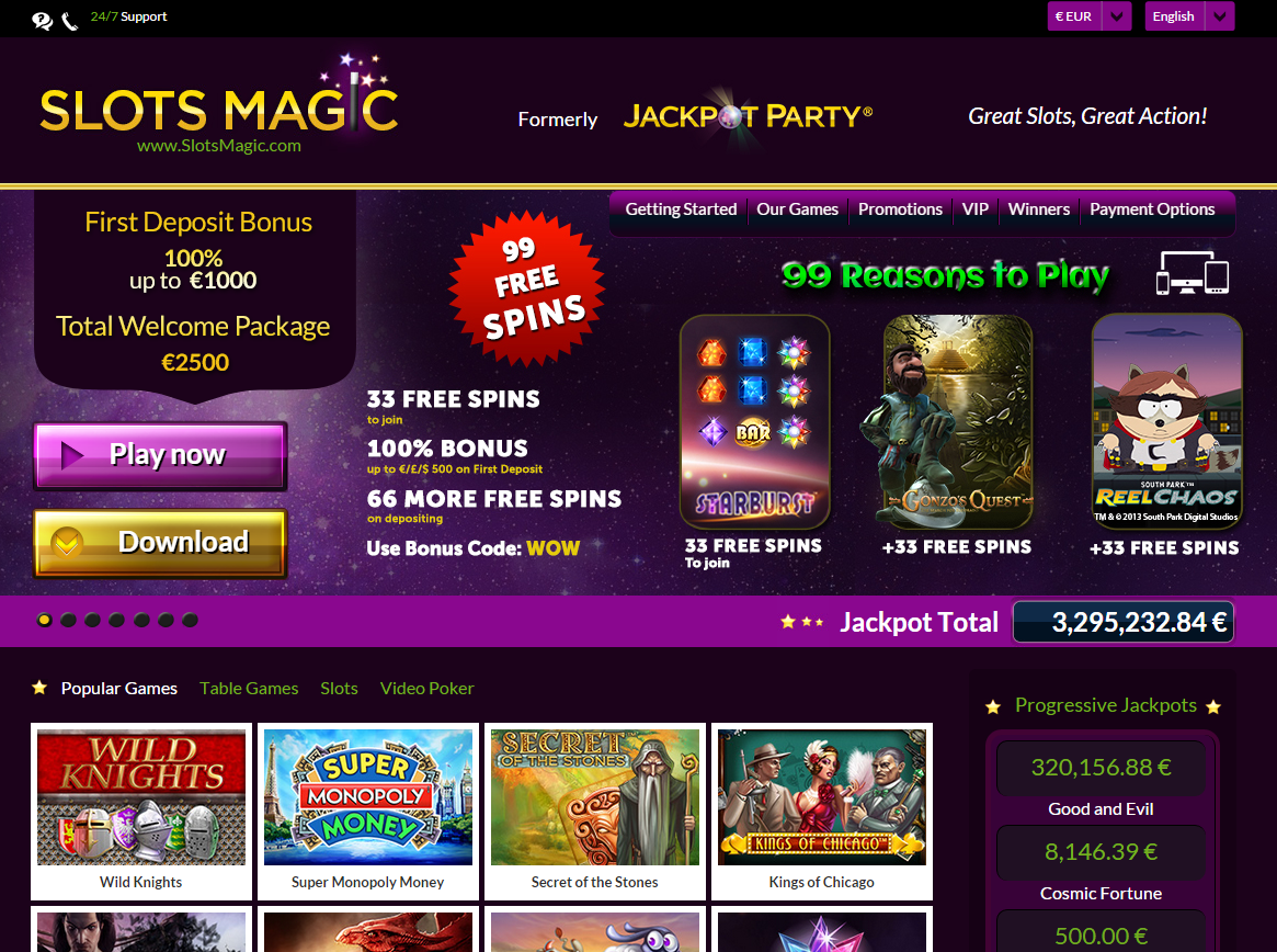 SlotsMagic Free Spins